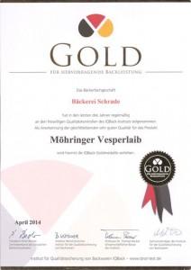 Goldurkunde Vesperlaib_2014_klein